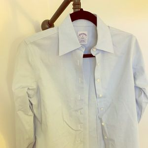 Blue button down brooks brothers shirt